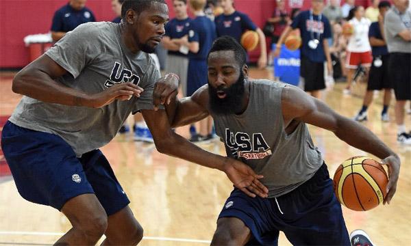 美国队备战男篮世界杯-篮球热图