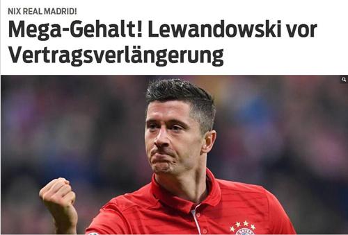 莱万绝约拜仁期近 恐超穆勒成球队甚至德甲顶薪