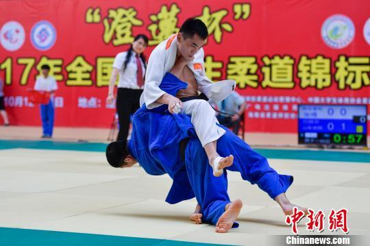 2017年全国大学生柔道锦标赛在海南澄迈县开乒乓球比寒