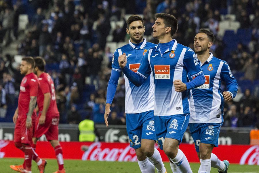 (體育)(1)足球——西甲:西班牙人勝赫塔菲