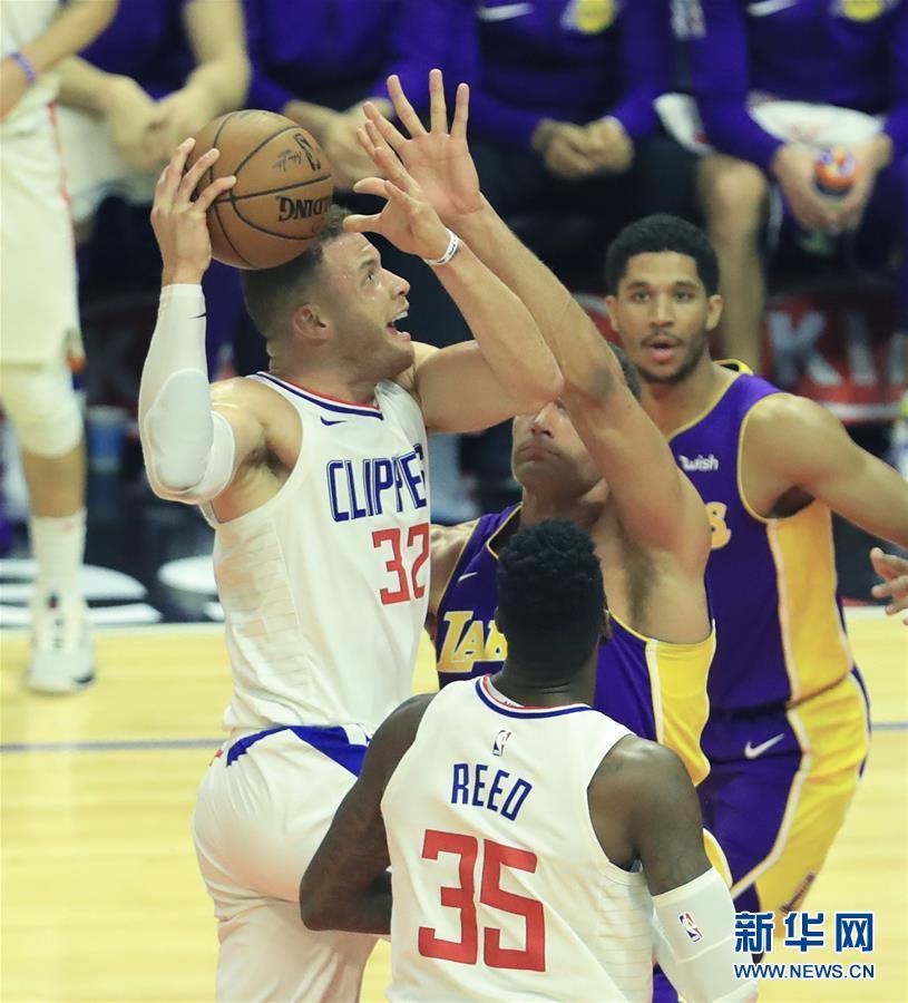 (體育)(1)籃球——NBA常規賽:快船勝湖人