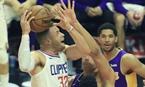 NBA常規賽:快船勝湖人(組圖)
