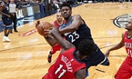 NBA常規賽:森林狼勝鵜鶘(組圖)