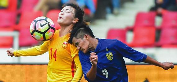 佛山女足四國賽中國隊2:1逆轉泰國隊